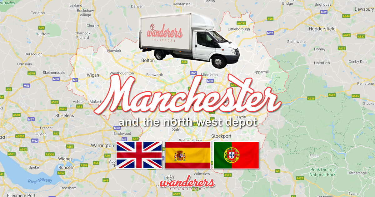 Manchester North West England Depot Removals Storage Wanderers Transport OG02
