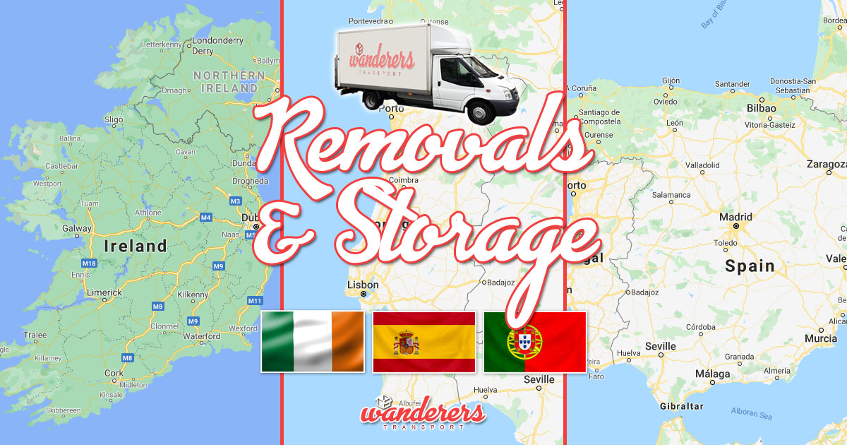 Removals & Storage - Ireland, Portugal, Spain - WanderersTransport